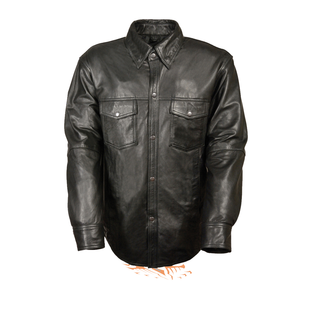 Leather jacket for motorcycle riding - Men S Leather Shirt Cowhide Leather Motorcycle Rider Shirt