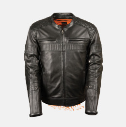 American police leather jacket