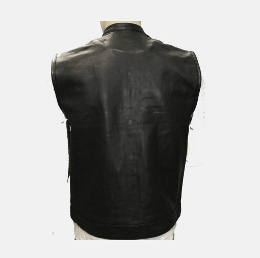 Best Cheap Leather Vests black