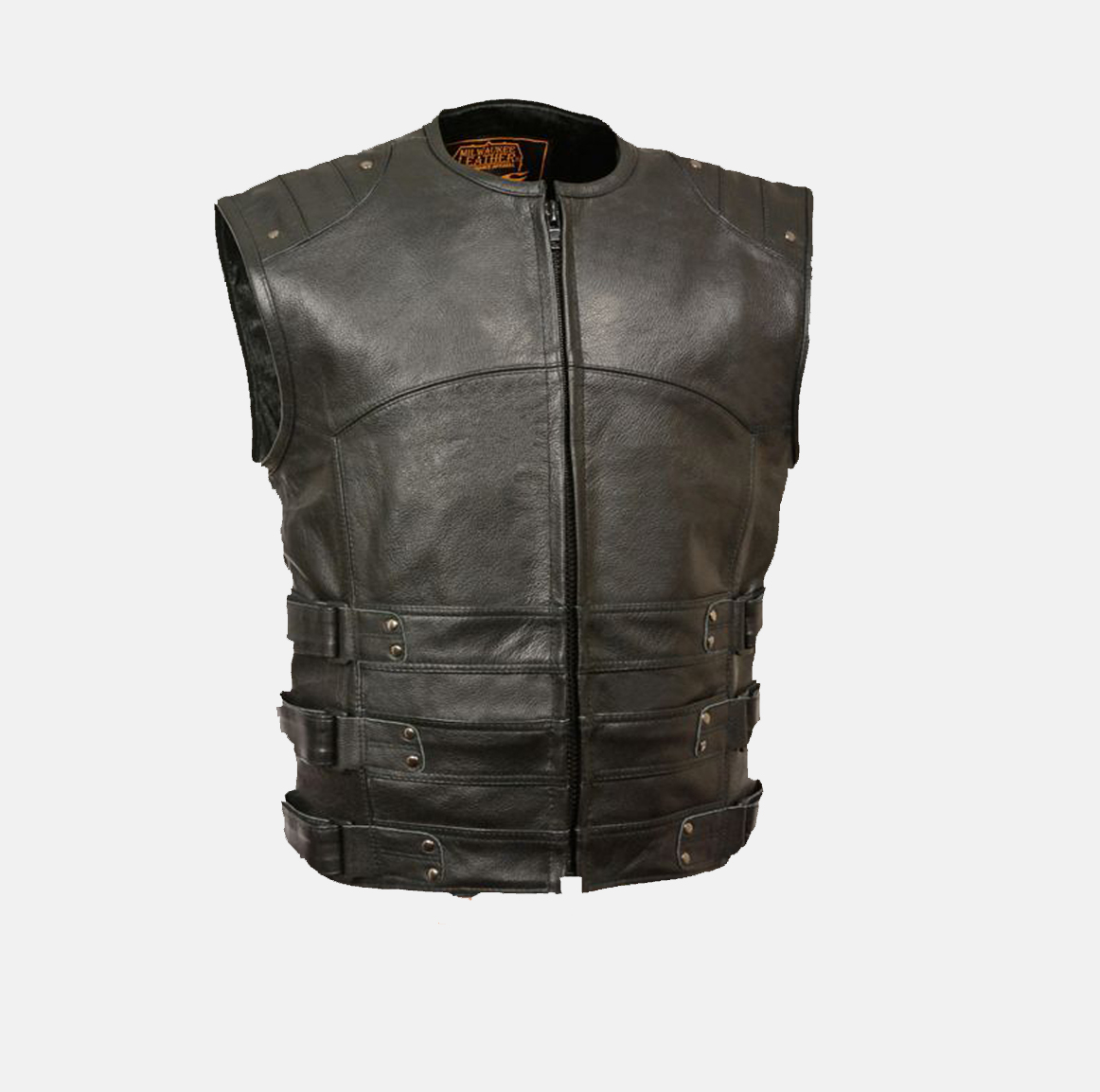Vests Mens Cut Off Motorcycle Waistcoat Cowhide Leather Black Biker Vest Jacket Motorcycle Street Gear