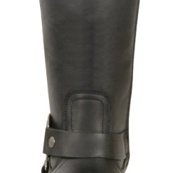 black leather over the knee high boots