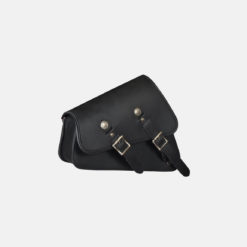 Black Leather Saddlebag Two Strap