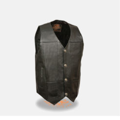 Black Leather Vest for Men