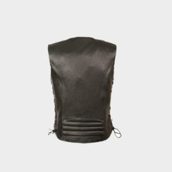 Black Womens Vest soft Leather