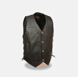 Buffalo Leather Western Cowboy Vest
