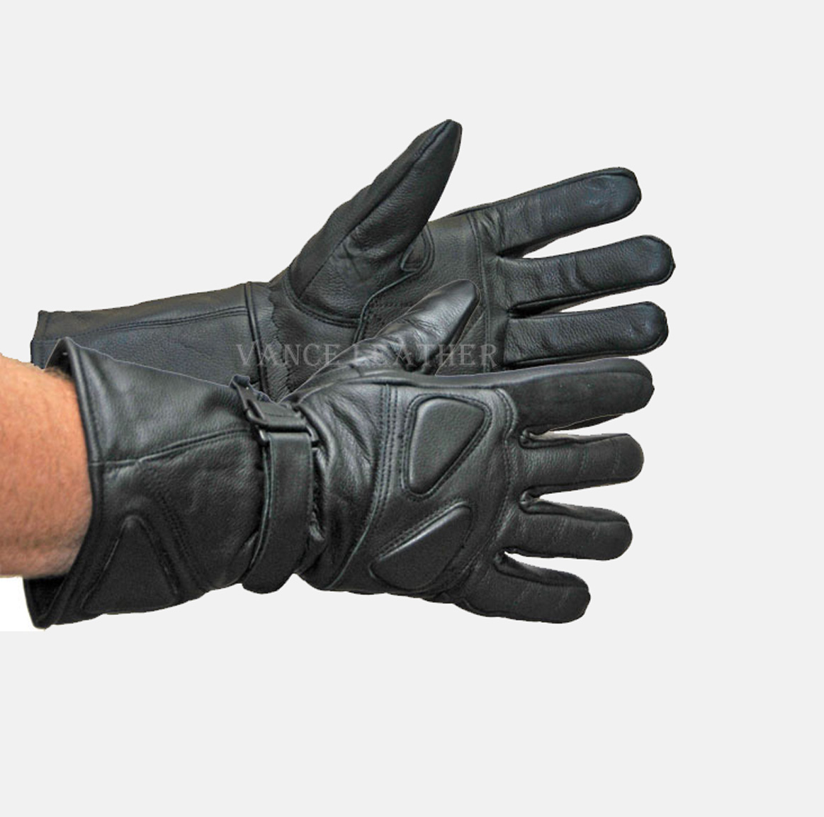 Motorcycle Riding Glove Insulated Gauntlet Gloves Lamb