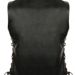 Ladies Motorcycle Leather Vest back