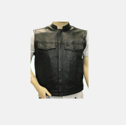 leather biker vests for men