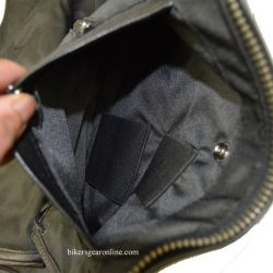 leather jacket pocket