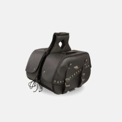 Leather saddle bags bike