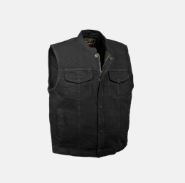 Men Denim black vest black jeans vest
