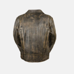 men's casual jackets brown distressed