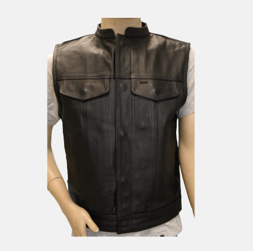 Mens Leather Vests made in USA