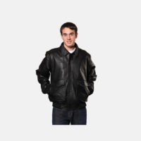 mens Winter Cowhide jackets black