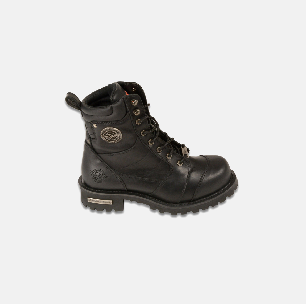 Motorbike 8 inches Logger Black Boots