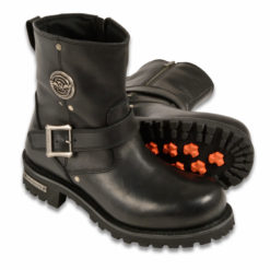 motorbike boots black leather