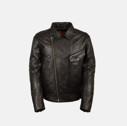 Motorcycle leather Jacket black winter season
