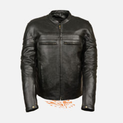 Motorcycle Leather jacket with Gun Pockets