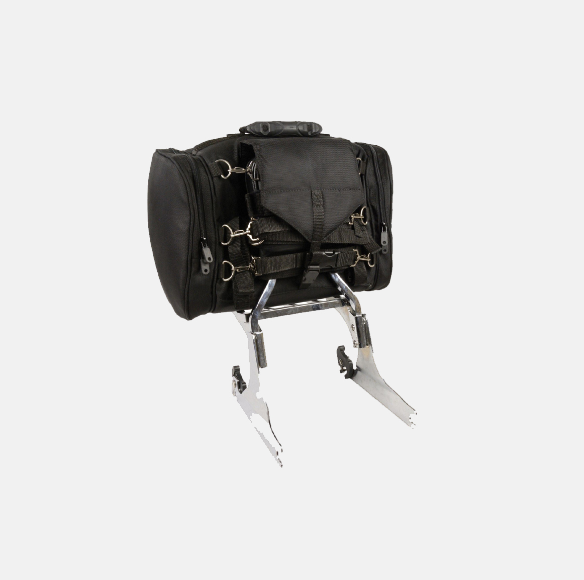motorcycle T bar leather bags backrest