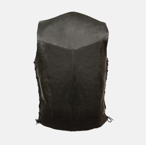 outlaw biker leather vest