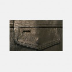 Pure Leather vest gun pockets