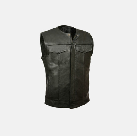 Sons of Anarchy Leather Vest Black for men