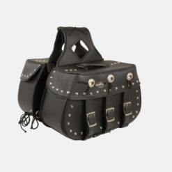 studded saddlebags