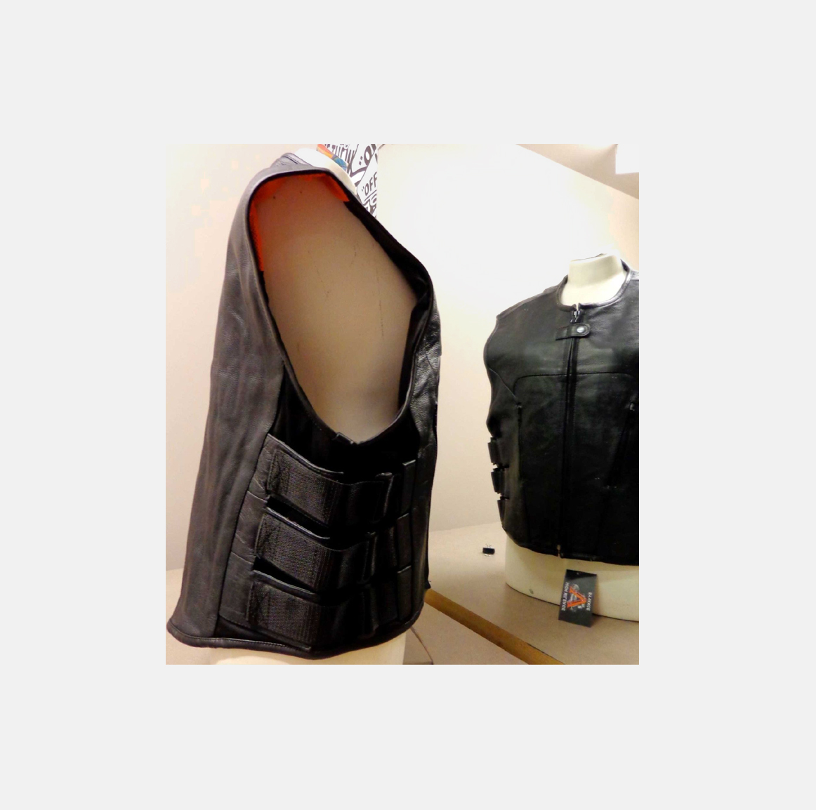 SWAt Style VEST Black Leather