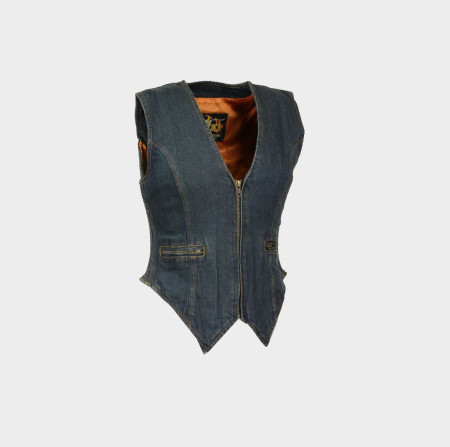 womens denim vest clothing