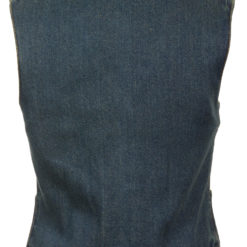 Womens jeans Vest Denim Jacket Blue