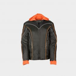 womens leather jacket with hoodie inside
