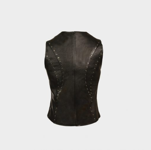 womens vest tops leather