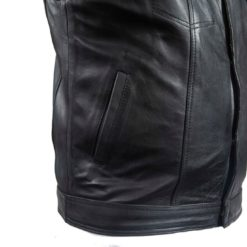 Best sons of anarchy leather vest collarless