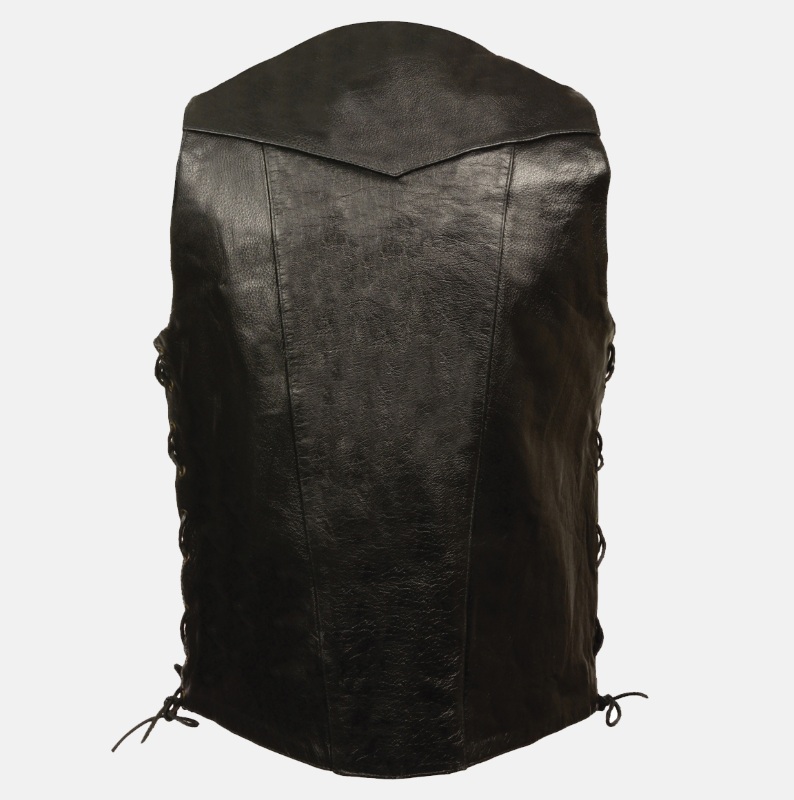 big and tall leather motorcycle vest