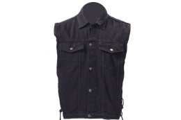 Black Denim Shirt Jeans Jacket vest