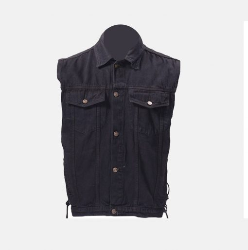 Black Denim Vest jacket Denim shirt