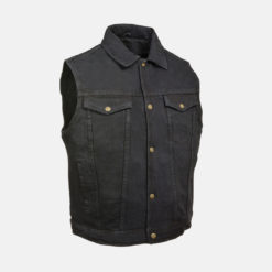 Black vest Denim Jeans men