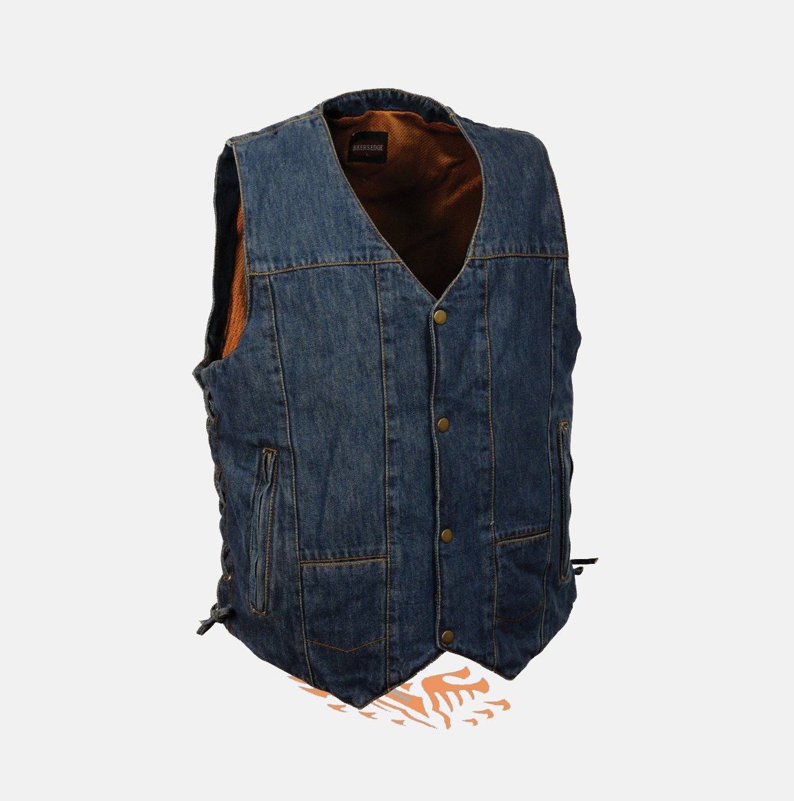 If you are looking for an alternative look, or if leather just isn't really your speed, Eagle Leather has a great assortment of biker denim vests for men.