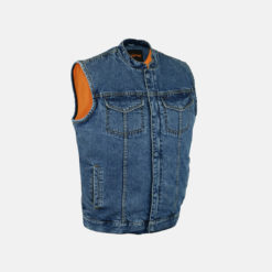 Blue Denim Vest Jacket mens