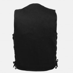 Cheap Motorcycle Denim Vest Black Sale