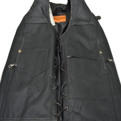 harley davidson swat leather vest