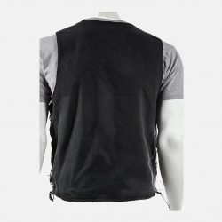 Men's Denim Biker Vest and Textile Jacket