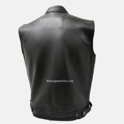 Mens Leather Motorcycle Vest images