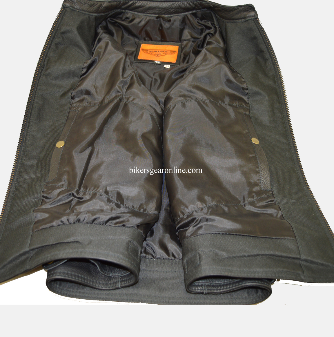 Mens Leather Motorcycle Vest real sample