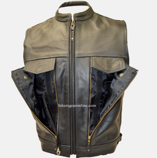 mens leather vest for sale