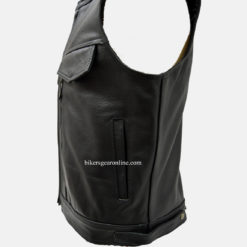 Mens Motorcycle Vest leather jacket
