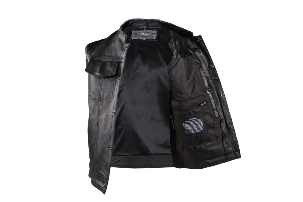 Men S Motorcycle Riding Son Of Anarchy Style Leather Vest