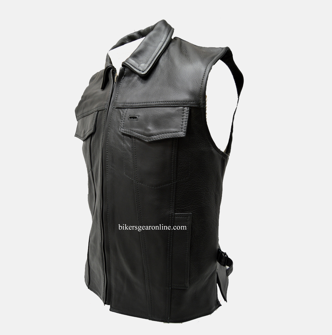 motorcycle club leather vest