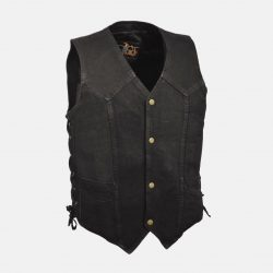 Motorcycle Denim Vest Black Sale