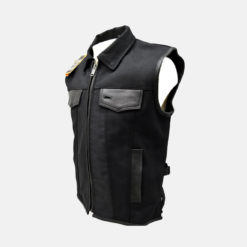 motorcycle leather vest New York